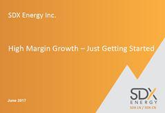 SDX Energy - High Margin Growth